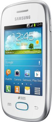 Смартфон Samsung S5312 Galaxy Pocket Neo Duos White (GT-S5312 RWASER) - вполоборота