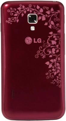 Смартфон LG Optimus L7 II Dual / P715 (красный) - вид сзади
