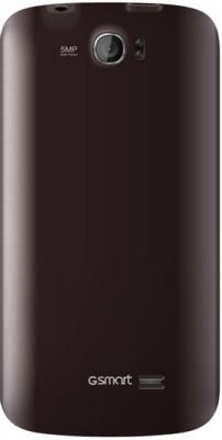 Смартфон Gigabyte GSmart GS202+ (коричневый) - вид сзади