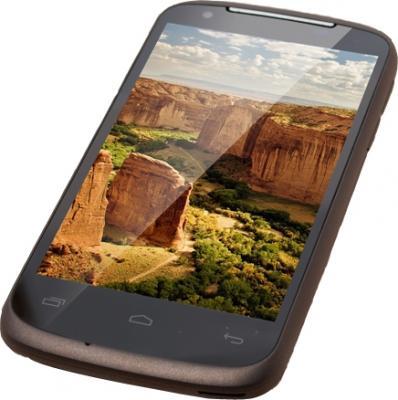Смартфон Gigabyte GSmart GS202+ (коричневый) - под наклоном