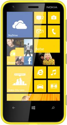 Смартфон Nokia Lumia 620 Yellow - вид спереди
