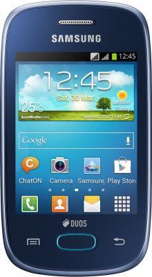 Смартфон Samsung S5312 Galaxy Pocket Neo Duos Dark Blue - вид спереди