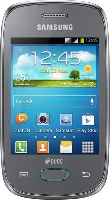 Смартфон Samsung S5312 Galaxy Pocket Neo Duos Silver - вид спереди