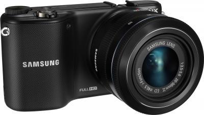 Беззеркальный фотоаппарат Samsung NX2000 (EV-NX2000BABRU) Black - общий вид