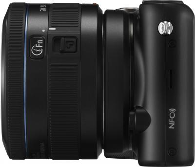 Беззеркальный фотоаппарат Samsung NX2000 (EV-NX2000BABRU) Black - вид сбоку