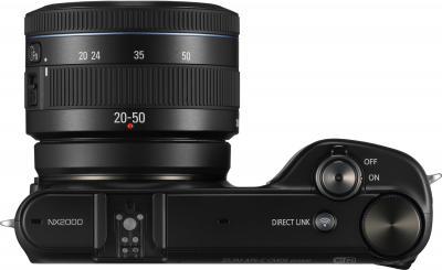 Беззеркальный фотоаппарат Samsung NX2000 (EV-NX2000BABRU) Black - вид сверху