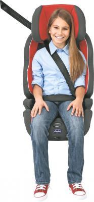 Автокресло Chicco Neptune (Red) - старший ребенок, пристегнутый автомобильными ремнями