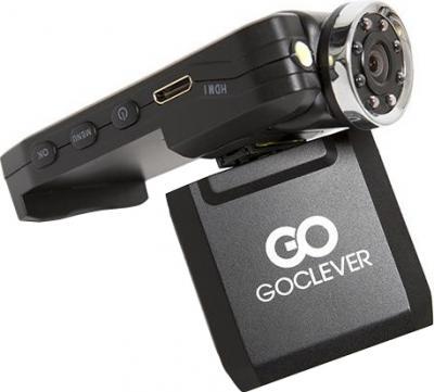 Автомобильный видеорегистратор GoClever DVR FULL HD IR - вид сбоку