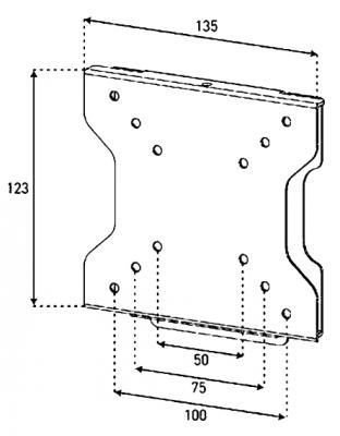 Кронштейн для телевизора Sonorous Surefix 210 - габаритные размеры