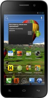 Смартфон Fly IQ446 Magic Black - общий вид