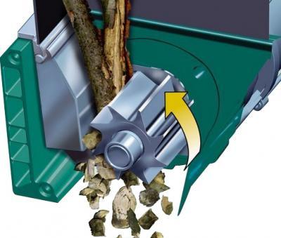 Садовый измельчитель Bosch AXT 25 D (0.600.803.100) - измельчение