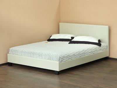 Двуспальная кровать Королевство сна Nairobi F001S (160х200 жемчужная) - общий вид