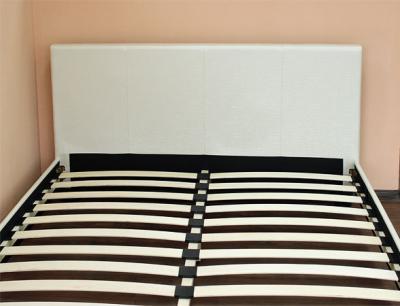 Полуторная кровать Королевство сна Nairobi F001S (140х200 жемчужная) - вид спереди