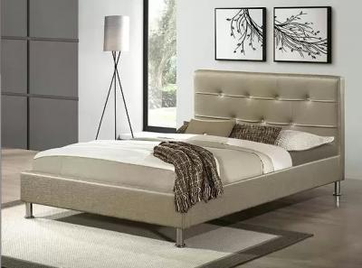 Двуспальная кровать Королевство сна Rizz (160x200 античный золотой) - в интерьере