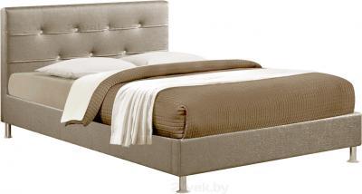 Двуспальная кровать Королевство сна Rizz (160x200 античный золотой) - общий вид