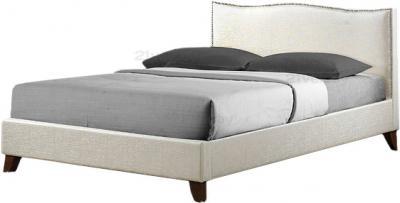 Двуспальная кровать Королевство сна MUSHKA (160x200 жемчужная) - общий вид