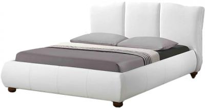 Двуспальная кровать Королевство сна LONTARO (160x200 белая) - общий вид