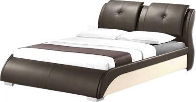 Двуспальная кровать Королевство сна TORENZO (180x200 коричнево-бежевая) - общий вид
