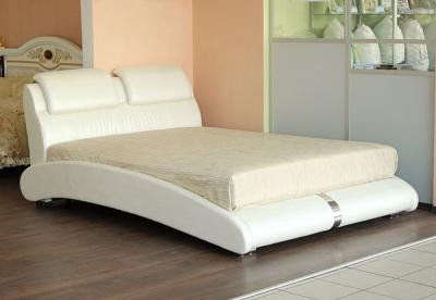 Двуспальная кровать Королевство сна BOLD (160x200 жемчужная) - в интерьере