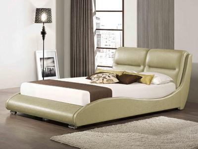 Двуспальная кровать Королевство сна HERMS (160x200 античный золотой) - в интерьере