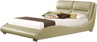 Двуспальная кровать Королевство сна HERMS (180x200 античный золотой) - общий вид
