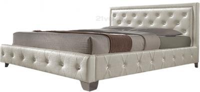 Полуторная кровать Королевство сна MOREE  (140x200 жемчужная) - общий вид