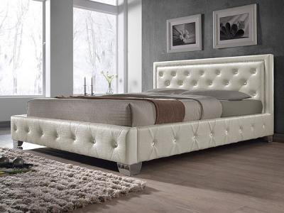 Двуспальная кровать Королевство сна MOREE (180x200 жемчужная) - в интерьере