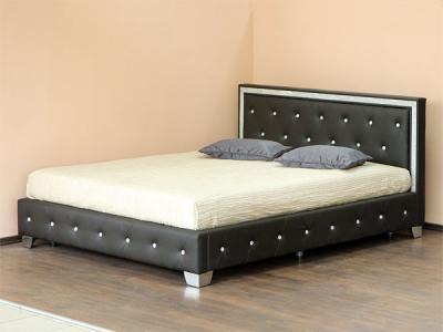 Двуспальная кровать Королевство сна CLADIS (180x200 темно-коричневая) - в интерьере