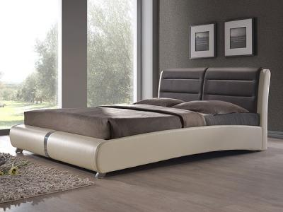 Двуспальная кровать Королевство сна VERA (160x200 коричнево-бежевая) - в интерьере