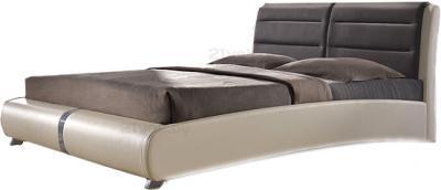 Двуспальная кровать Королевство сна VERA (160x200 коричнево-бежевая) - общий вид