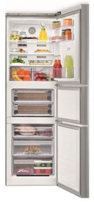 Холодильник с морозильником Beko CNE34220GR - с открытой дверью