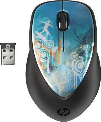 Мышь HP x4000 Wireless Cowa Bunga (H2F43AA) - общий вид