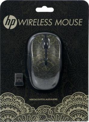 Мышь HP AHercovitch Wireless Mouse (H2P31AA Black-Gold) - коробка