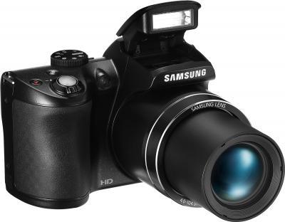 Компактный фотоаппарат Samsung WB110 (EC-WB110ZBABRU) Black - общий вид