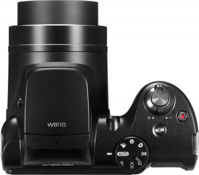 Компактный фотоаппарат Samsung WB110 (EC-WB110ZBABRU) Black - вид сверху
