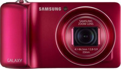 Компактный фотоаппарат Samsung Galaxy Camera EK-GC100 (бордовый) - фронтальный вид