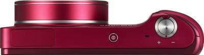 Компактный фотоаппарат Samsung Galaxy Camera EK-GC100 (бордовый) - вид сверху