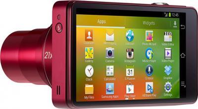 Компактный фотоаппарат Samsung Galaxy Camera EK-GC100 (бордовый) - дисплей