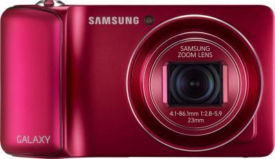 Компактный фотоаппарат Samsung Galaxy Camera EK-GC100 (красный) - фронтальный вид