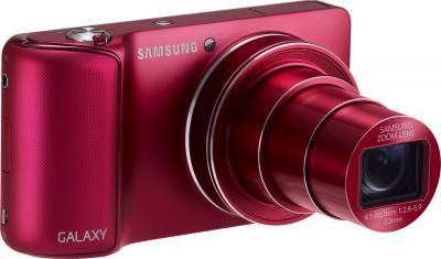 Компактный фотоаппарат Samsung Galaxy Camera EK-GC100 (красный) - общий вид