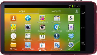 Компактный фотоаппарат Samsung Galaxy Camera EK-GC100 (красный) - дисплей