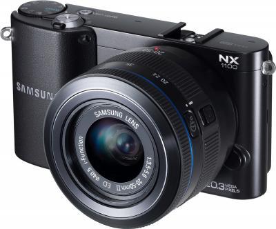 Беззеркальный фотоаппарат Samsung NX1100 Kit 20-50mm - общий вид