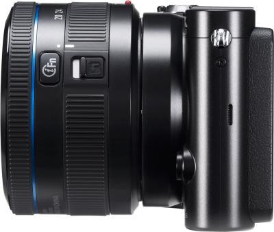 Беззеркальный фотоаппарат Samsung NX1100 Kit 20-50mm - вид сбоку