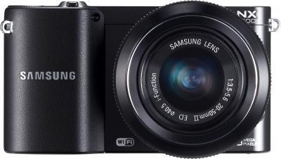 Беззеркальный фотоаппарат Samsung NX1100 Kit 20-50mm - вид спереди