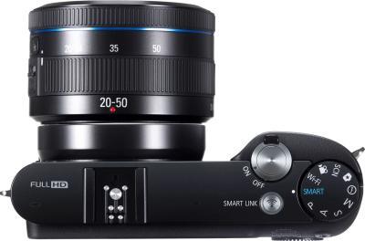 Беззеркальный фотоаппарат Samsung NX1100 Kit 20-50mm - вид сверху