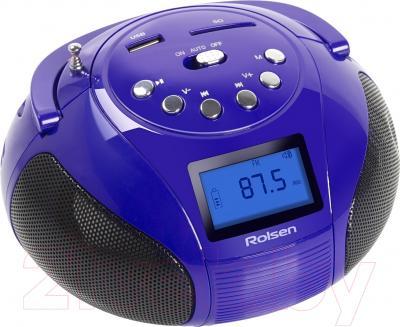 Магнитола Rolsen RBM-411 (фиолетовый)