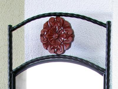 Туалетный столик с зеркалом Королевство сна DT61 (античный дуб) - кованый узор