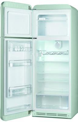 Холодильник с морозильником Smeg FAB30LV1 - с открытой дверью