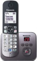Беспроводной телефон Panasonic KX-TG6821 (серый металлик) -