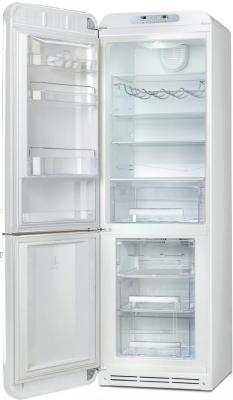 Холодильник с морозильником Smeg FAB32LBN1 - с открытой дверью